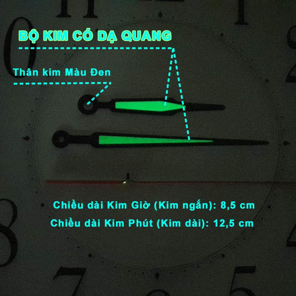 Máy Đồng Hồ Eastar Kim Trôi Độ Chính Xác Cao – Bộ Kim Đao thân Kim màu Đen có phủ Dạ Quang màu Xanh – Kèm theo Pin Maxell