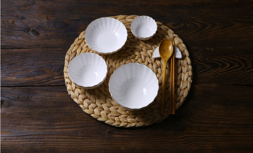 Bộ chén đĩa gốm sứ cao cấp 1 người - Cotton - Erato- Hàng nhập khẩu Hàn Quốc