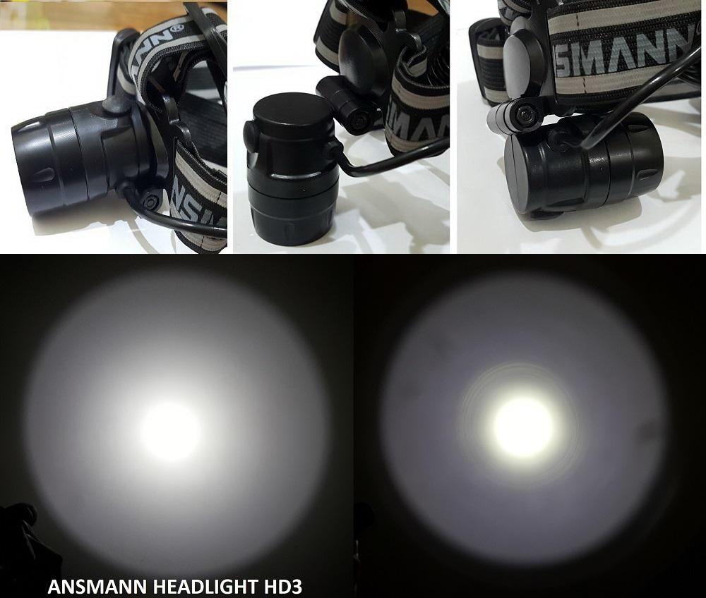 Đèn Pin Đeo Đầu LED Headlight HD3 của ANSMANN - Hàng Nhập Khẩu