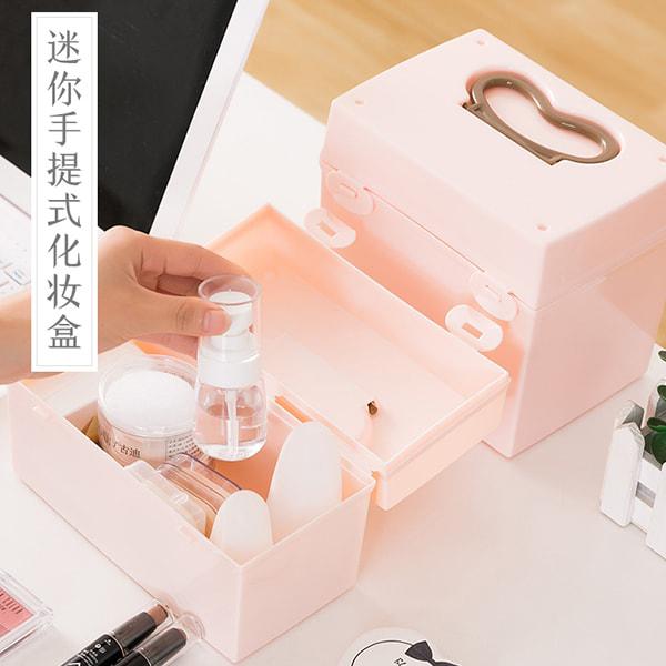 Hộp Đựng Mỹ Phẩm Có Quai Xách Japan + Tặng Hồng Trà Sữa (Cafe) Maccaca 20g