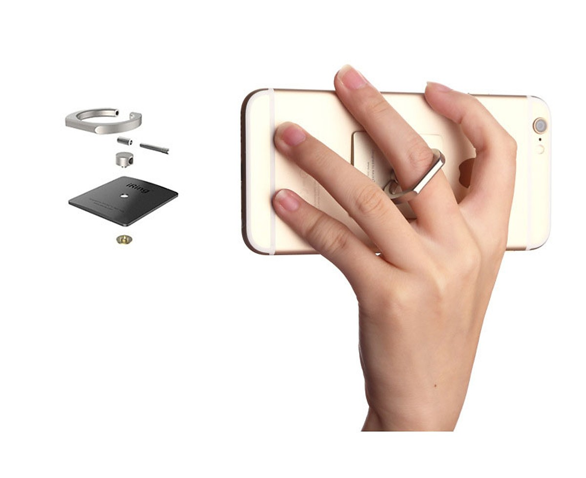 Giá đỡ điện thoại Iring táo nhẵn iring dán điện thoại