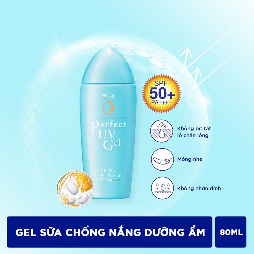 Gel sữa chống nắng Senka Perfect UV Gel 80ml