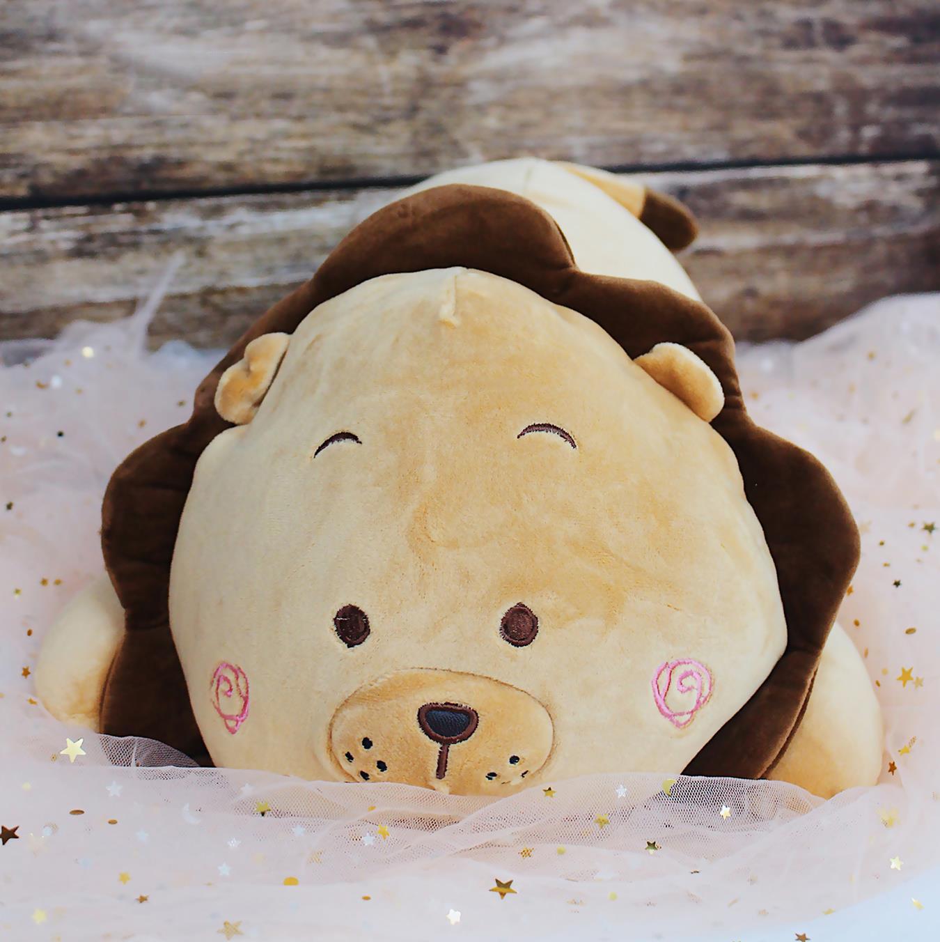 Gấu bông sư tử nằm nhồi bông size 70cm
