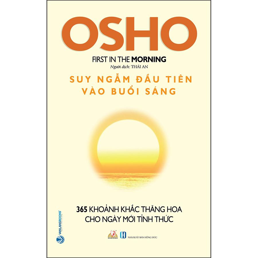 Combo 2 Cuốn OHSHO: Suy Ngẫm Đầu Tiên Vào Buổi Sáng + Suy Ngẫm Cuối Cùng Vào Buổi Tối