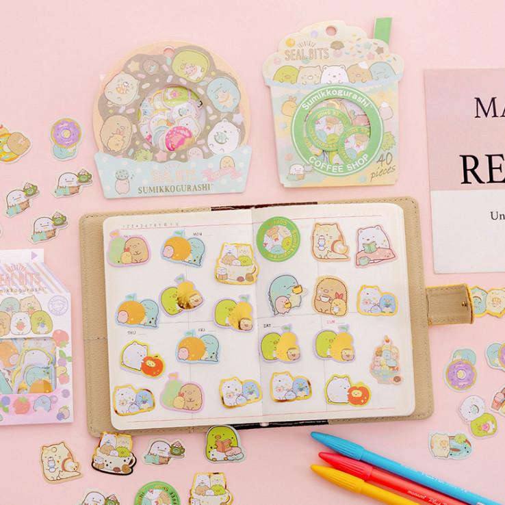 40 Miếng Dán Sticker Kawaii Nhật Bản
