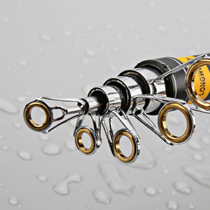Bộ cần câu - Gồm cần carbon huntes Man - Kèm máy kim loại GF 5000 - Tặng 9 phụ kiện cm01