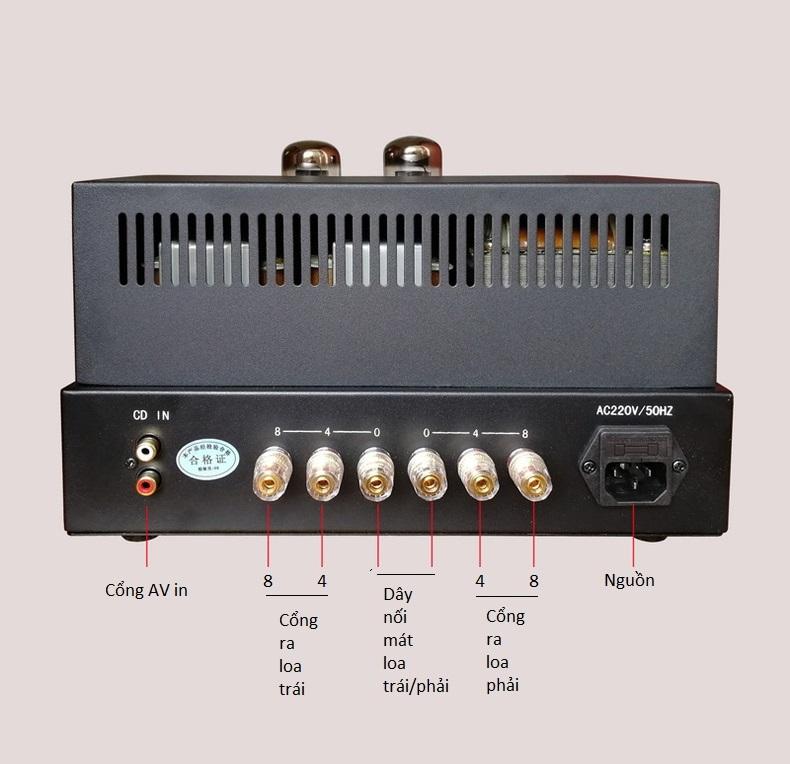 Bộ Ampli Đèn Khuếch Đại Âm Thanh Oldchen EL34 X1 Cao Cấp AZONE