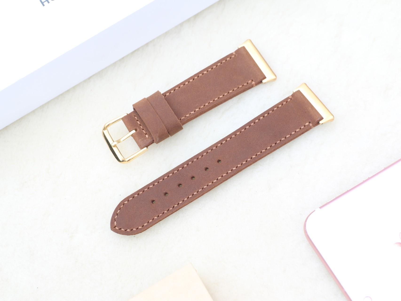 Dây Đeo Da Thay Thế Dành Cho Đồng Hồ Thông Minh Oppo Watch Handmade