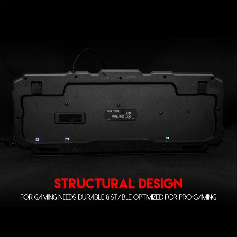 Bàn phím giả cơ Gaming Fantech K511 LED Backlit HUNTER PRO có dây, led rainbow - Hàng chính hãng