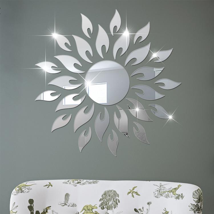 Bộ decal trang trí dán tường 3D sáng tạo cao cấp (M5) Mặt trời