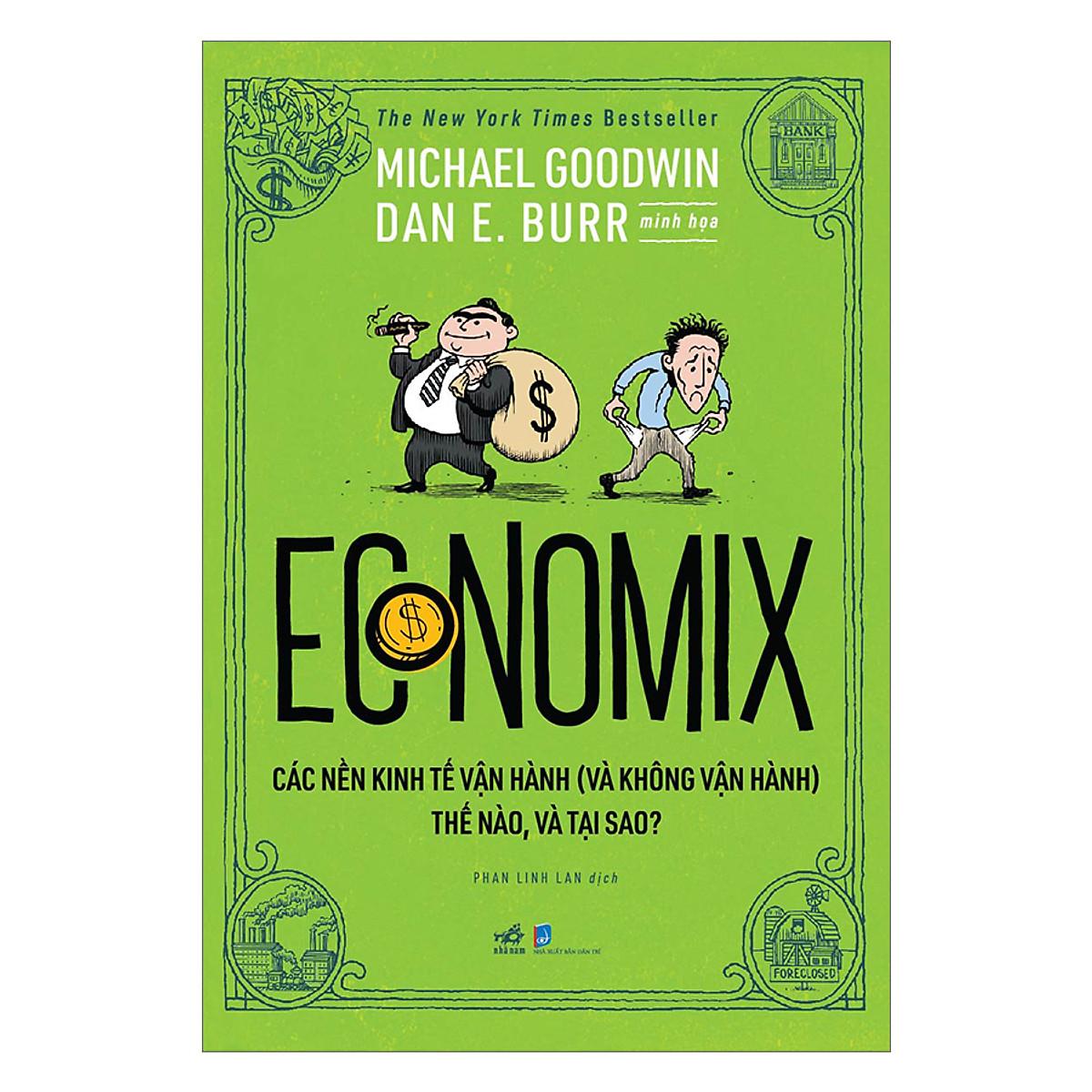 Combo 2 cuốn sách: Economix  + Làm quen kinh tế học qua biếm họa tập 1 (kinh tế vĩ mô)