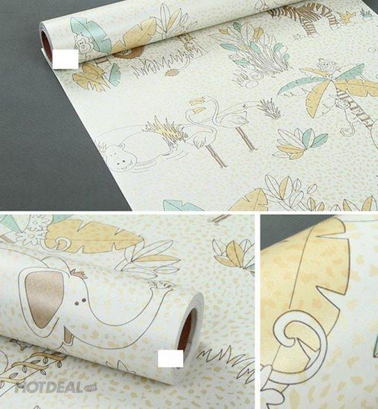 5m giấy decal cuộn họa tiết vườn thú DT23(45x500cm)