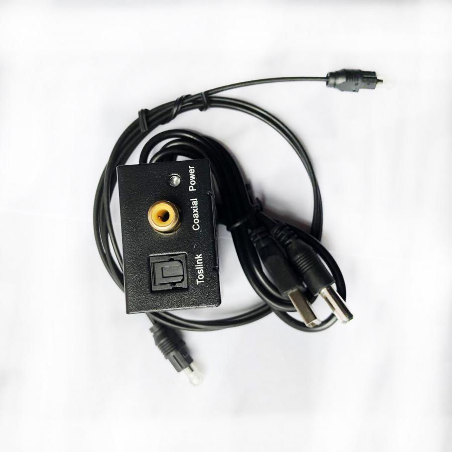 Bộ chuyển đổi âm thanh tivi Optical sang Av R/L loa , amply