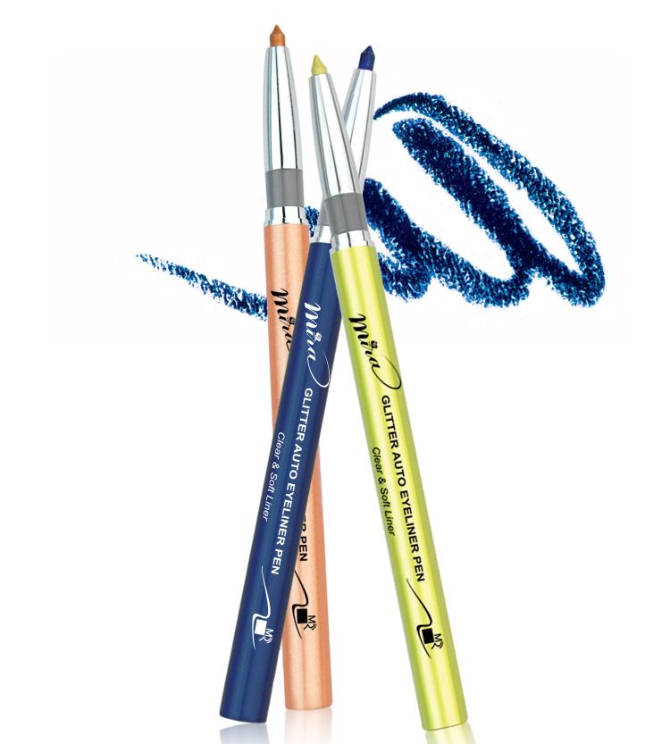 Chì mí kim tuyến Mira Glitter Auto Eyeliner Pen Hàn Quốc No.302 White Pearl tặng kèm móc khoá