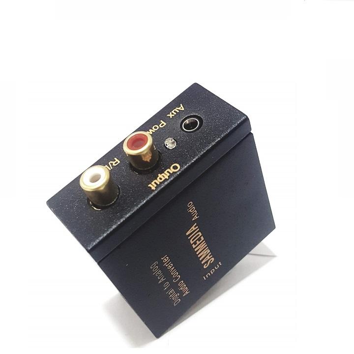 Bộ chuyển âm thanh TV 4K quang optical sang audio AV ra amply SAMEDIA-hàng chính hãng