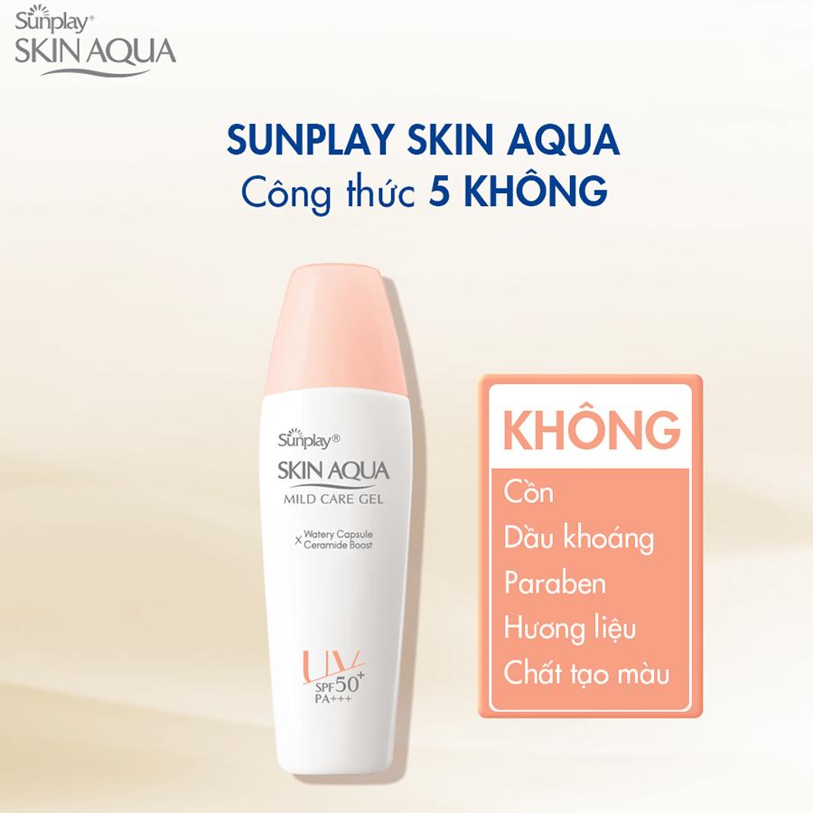 Gel Chống Nắng Cho Da Nhạy Cảm Sunplay Skin Aqua Mild Care Gel SPF50+ PA+++ (25g)