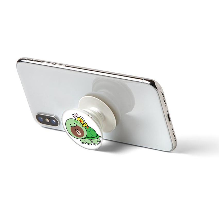 Gía đỡ điện thoại đa năng, tiện lợi - Popsockets - In hình BROWN 14 - Hàng Chính Hãng
