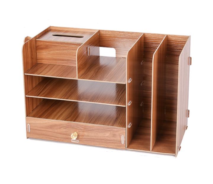 Giá sách để bàn gỗ B06 ( Màu ngẫu nhiên )