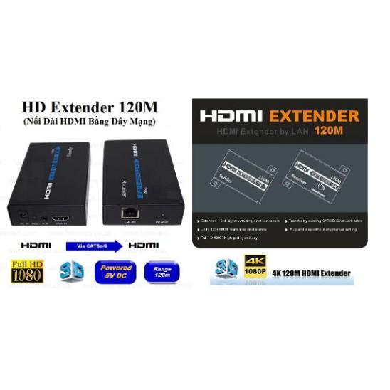 Bộ nối dài HDMI bằng dây LAN 120m (HD EXTENDER 120M)