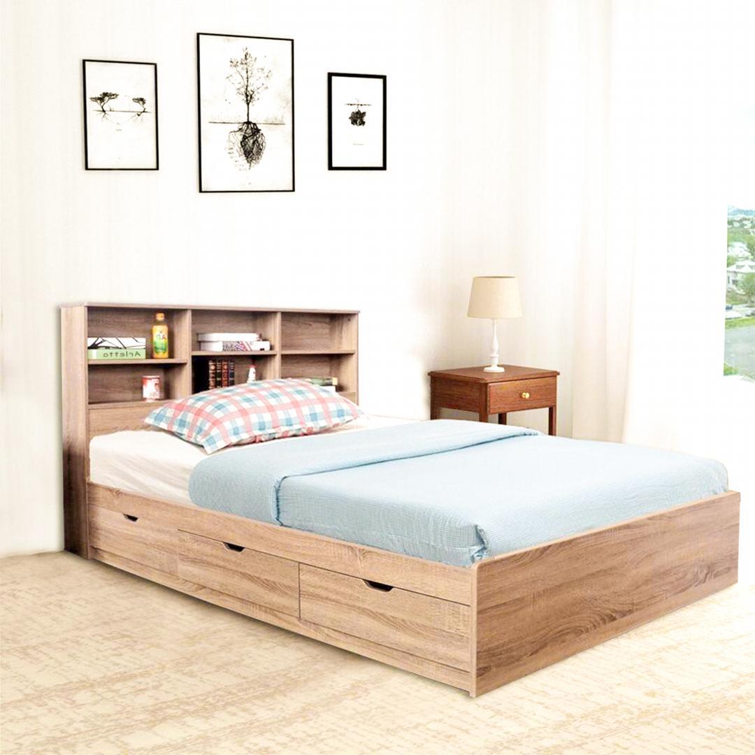 Giường ngủ gỗ hiện đại SMLIFE Selena