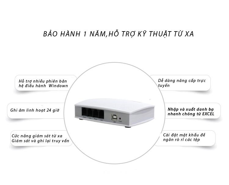 Box ghi âm điện thoại 2 line (cắm cổng usb) t5u2