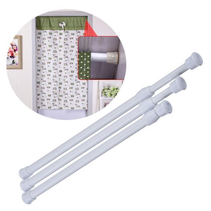 Thanh treo đa năng chân tròn sơn tĩnh điện không cần khoan bắt vít 60-110cm