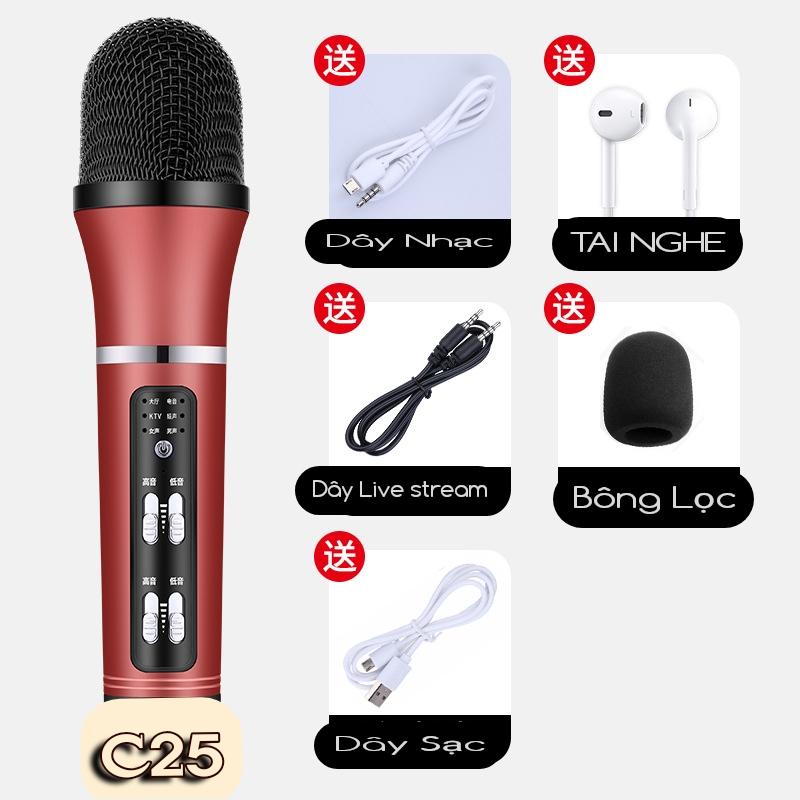 Mic C25 live stream thu âm cao cấp đa năng giả giọng