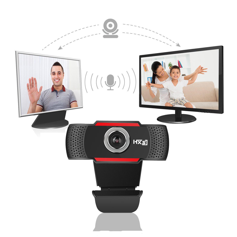 Webcam máy tính HXSJ S20 HD 640x480  Pixel USB3 2.0  Kèm Mic Cho Cuộc Gọi Video - Hàng Chính Hãng