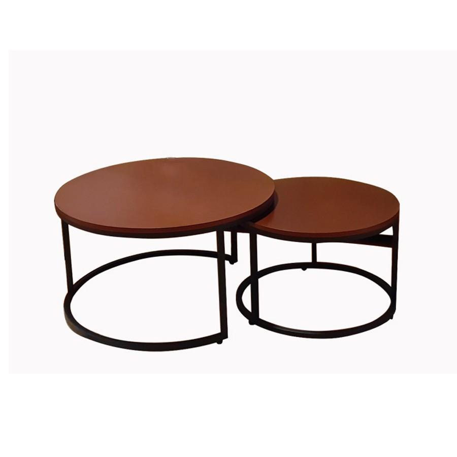 Bàn trà sofa nội thất phòng khách (bàn trà tròn đôi Lanotte-bmd)