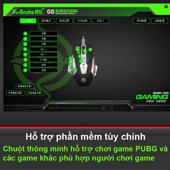 Chuột chuyên game K-SNAKE G0 CHUỘT ĐỈNH CHO DÂN PUBG & FPS