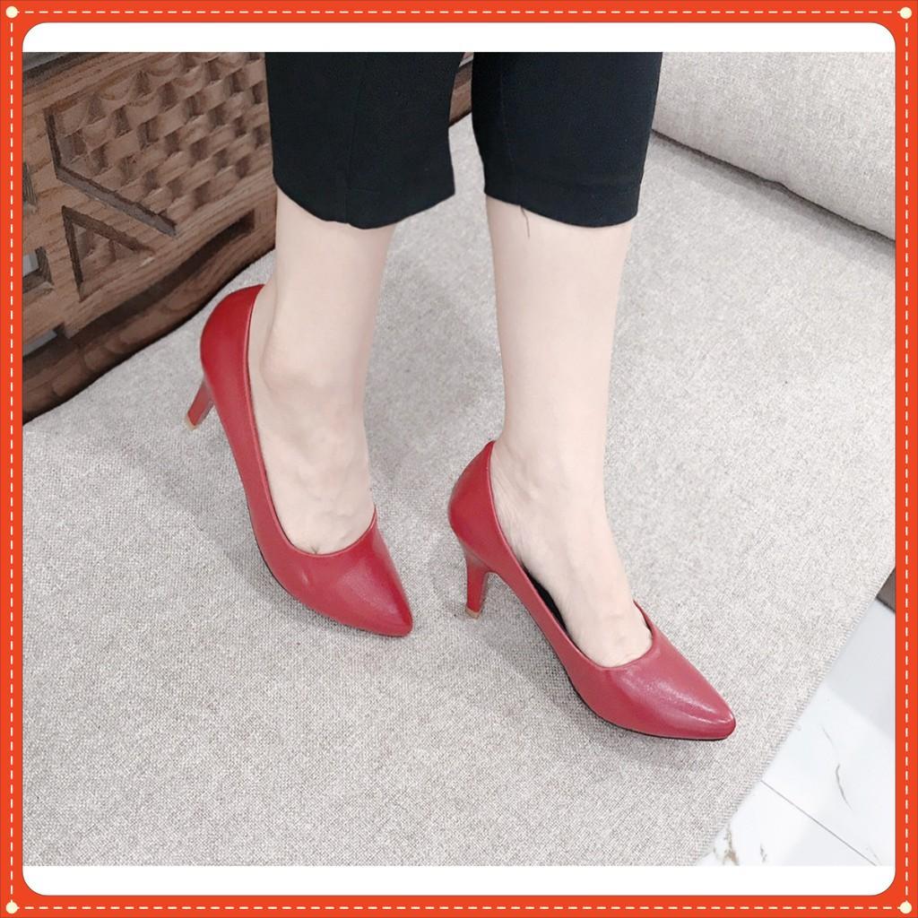 (Xả kho)Giày cao gót thời trang 5 phân (màu đỏ)