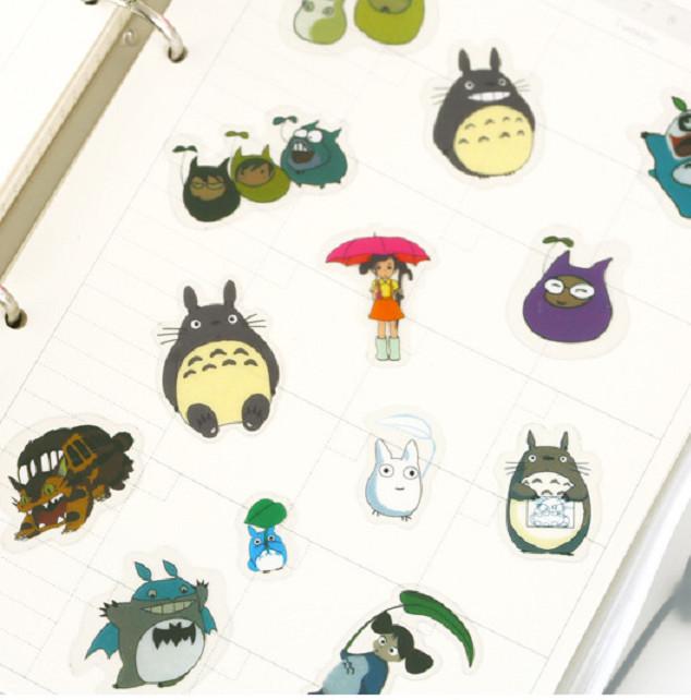 60 Miếng Sticker Dán Trang Trí Totoro