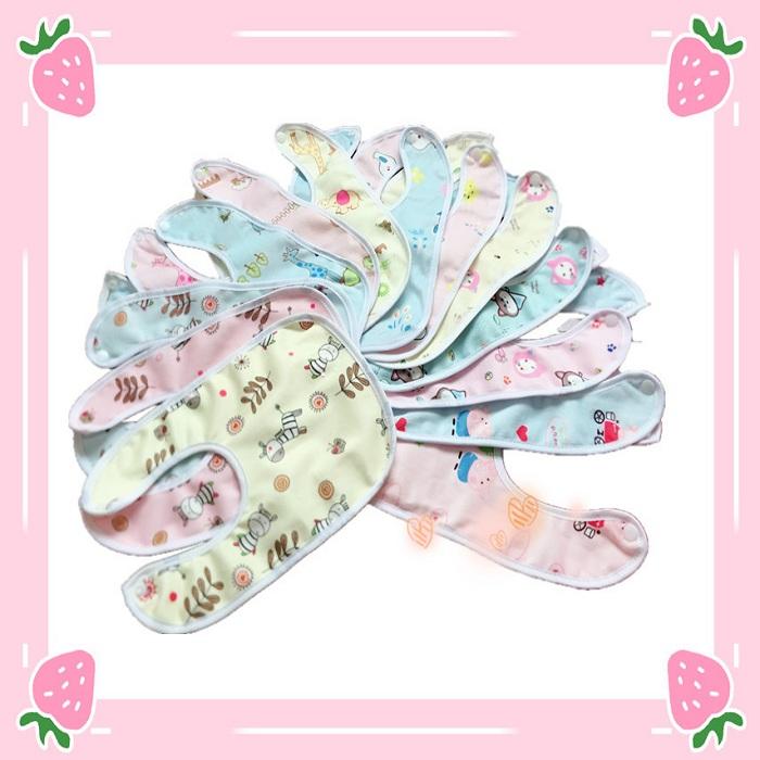 Set 3 Yếm ăn dặm khăn tay vải mềm cho bé