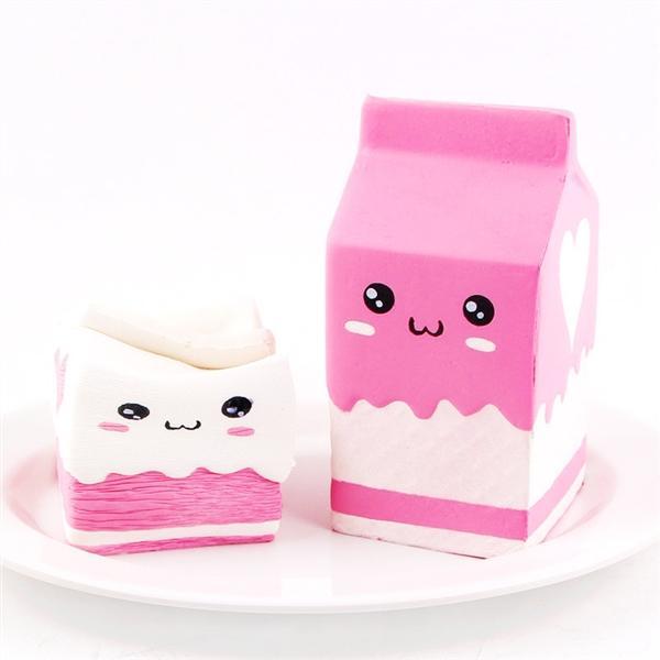 Squishy hộp sữa, squishy chậm tăng mùi thơm dịu nhẹ, đồ chơi cho bé trai và bé gái