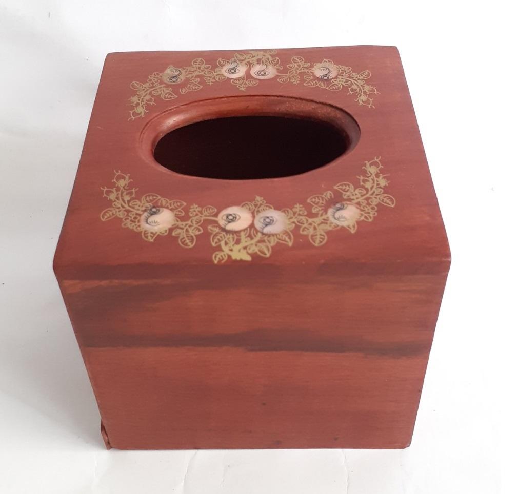 Hộp đựng giấy ăn bằng gỗ hương Cao cấp