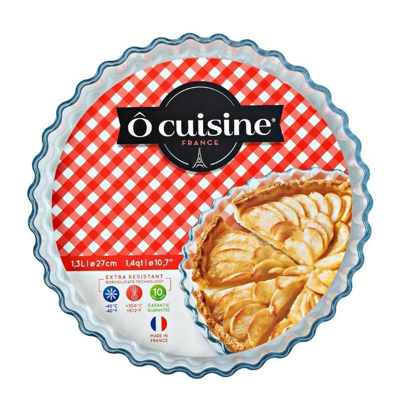 Khay Bánh Gốm Thủy Tinh Hình Tròn Ocuisine  – 27x27x3cm