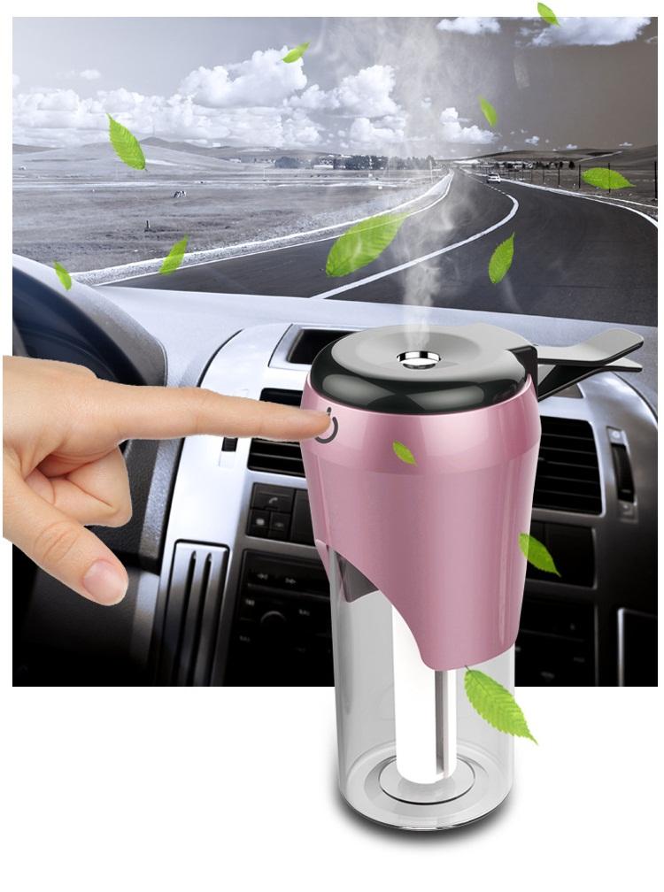 Máy khuyếch đại tinh dầu, tạo độ ẩm trên ô tô có kẹp giữ cố định ( Tặng kèm 02 nút kẹp cao su giữ dây điện ngẫu nhiên )