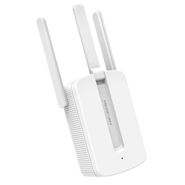 Thiết Bị Kích Sóng Wifi Mercury Repeater MW310RE 3 Anten Version 2017 - Hàng Chính Hãng