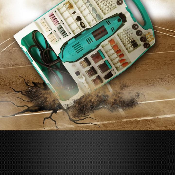 Bộ dụng cụ gia công mini 226 chi tiết sửa chữa đa năng ( TẶNG 01 ĐÈN PIN MINI BÓP TAY KHÔNG SỬ DỤNG PIN )