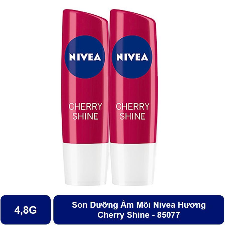 Bộ 2 Son Dưỡng Ẩm Môi Hương Cherry Shine Nivea (4.8g*2)