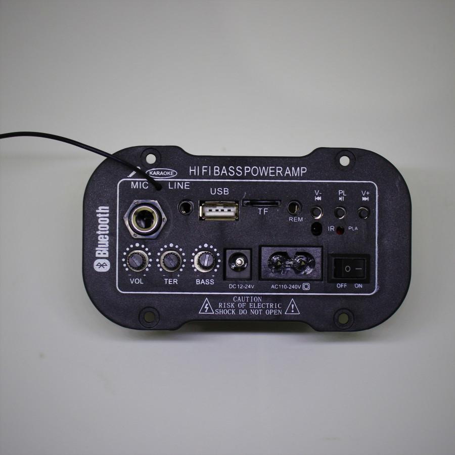 Mạch loa kéo hifi bass power + bluetooth + khe cắm mic D00-168