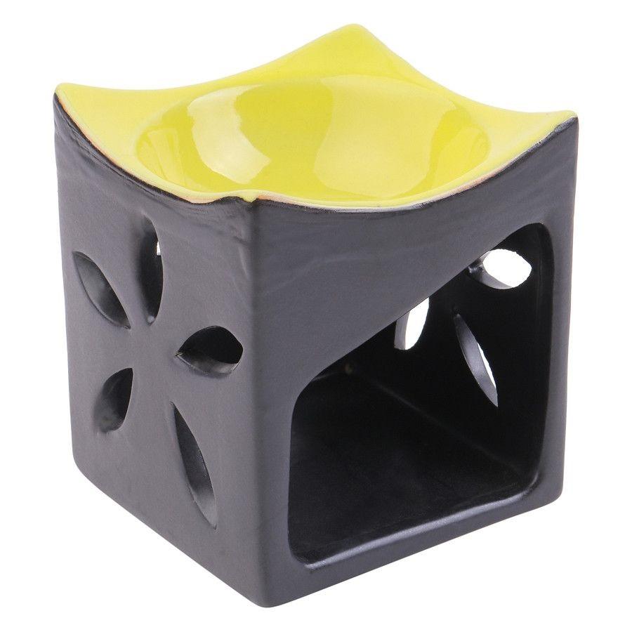 Combo đèn xông tinh dầu hình vuông + nến Lasante DN-16