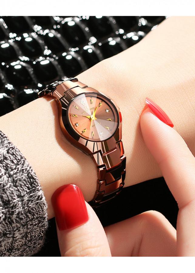 Đồng hồ nữ thời trang dây đá mặt đá R-Ontheedge RZY006 mặt nhỏ sang trọng chống nước chống xước