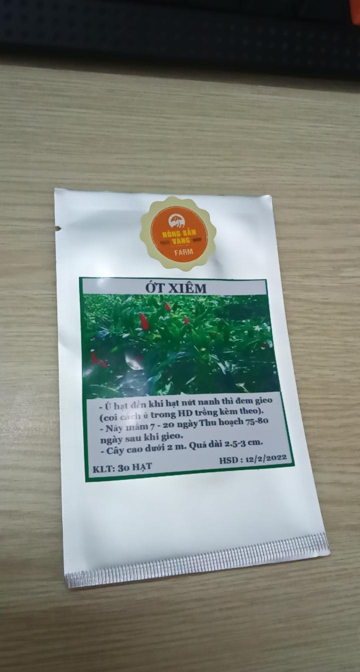 Hạt giống Ớt Xiêm ( Gói 30 Hạt ) - Nông Sản Vàng