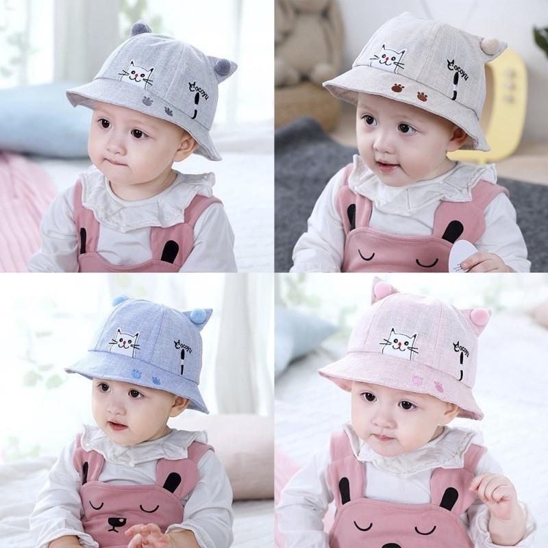 Mũ vành tròn mèo cho bé trai/ bé gái