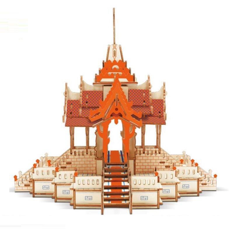 Đồ chơi lắp ráp gỗ 3D Mô hình Đền Thờ Thái Lan Laser