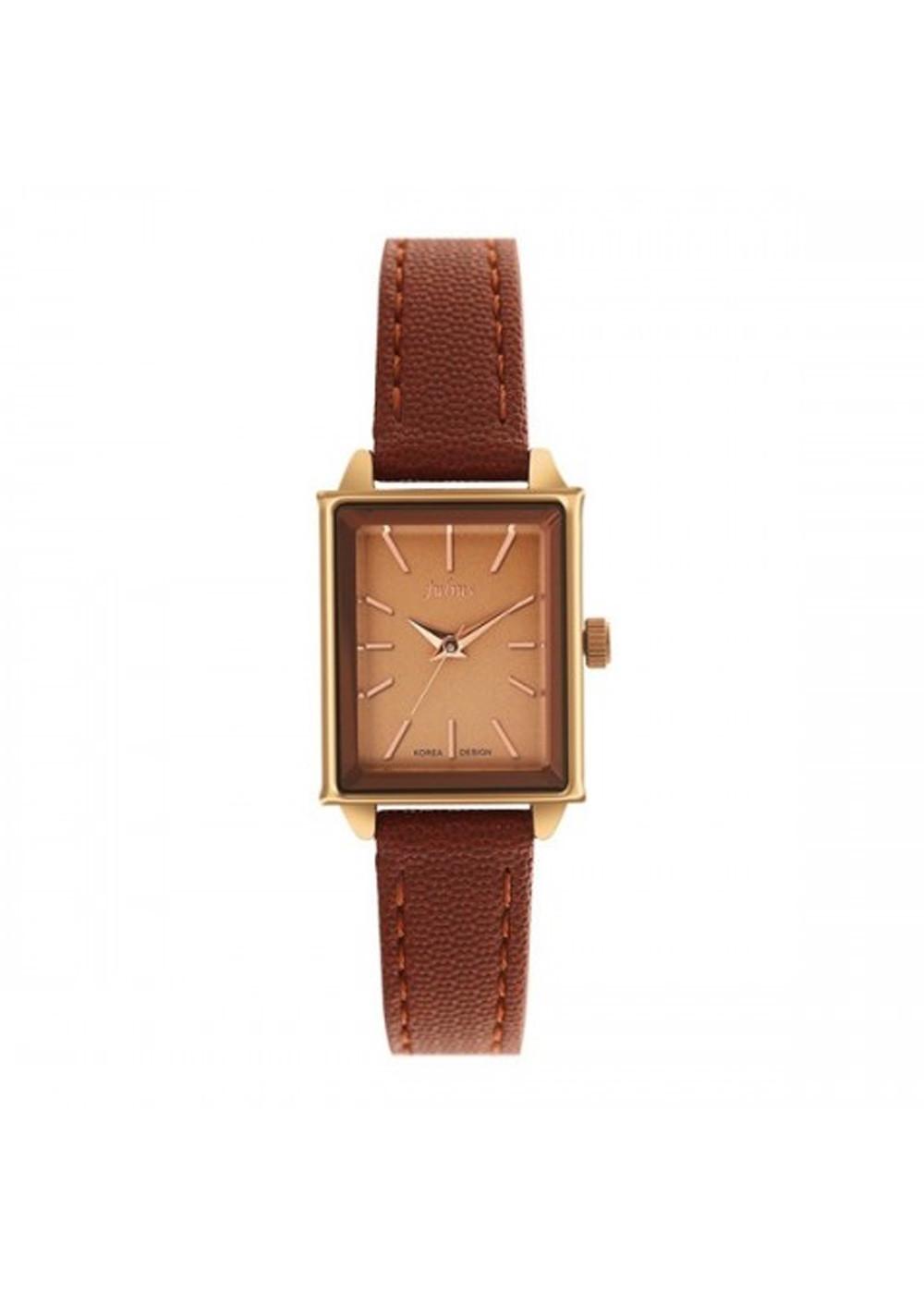 Đồng hồ nữ dây da Julius Ja-787 Nâu