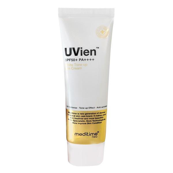 Kem Chống Nắng Thảo Dược  - UVien White Tone up Sun Cream MEDITIME 50g