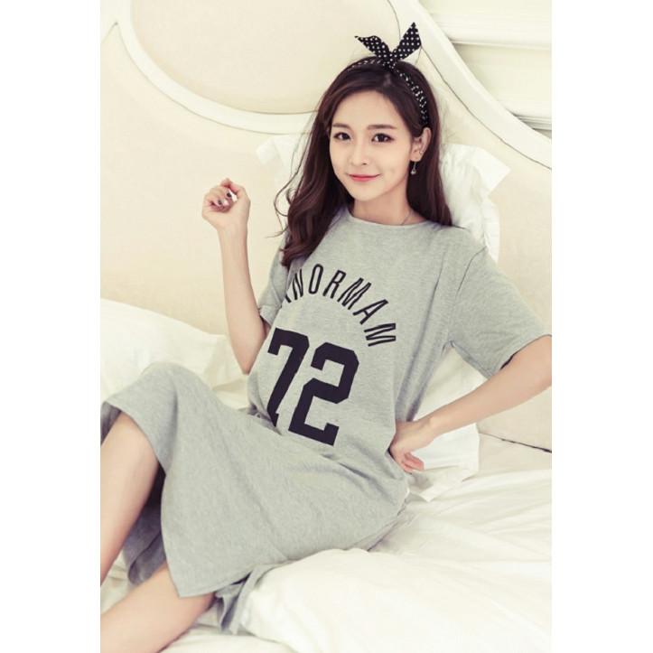 Váy bầu thiết kế chất cotton mềm mát V316
