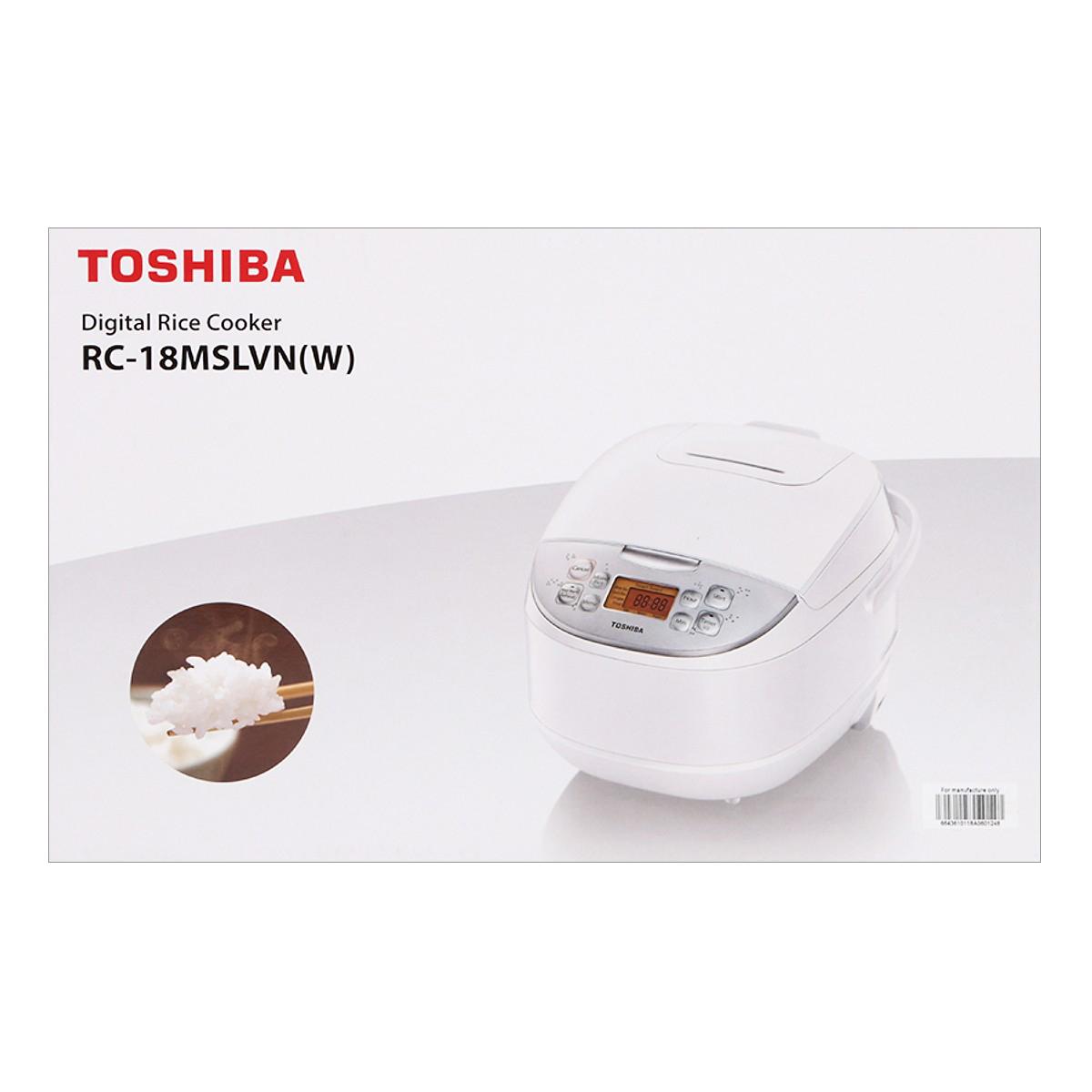 Nồi Cơm Điện Tử Toshiba RC-18MSLVN(W) (1.8L) - Hàng chính hãng